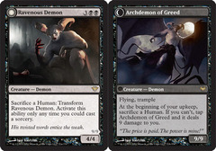 Ravenous Demon // Archdemon of Greed - Foil
