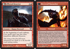 Afflicted Deserter // Werewolf Ransacker - Foil on Channel Fireball