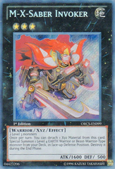 M-X-Saber Invoker - ORCS-EN099 - Secret Rare - 1st Edition