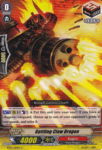 Gattling Claw Dragon - BT02/064EN - C
