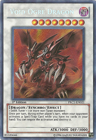 Void Ogre Dragon - PRC1-EN021 - Secret Rare - 1st Edition