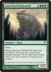 Craterhoof Behemoth on Channel Fireball