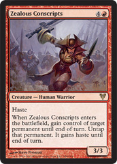 Zealous Conscripts - Foil on Ideal808