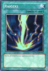 Raigeki - DLG1-EN006 - Super Rare - Unlimited Edition