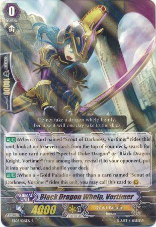 Black Dragon Whelp, Vortimer - EB03/015EN - R