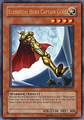 Elemental Hero Captain Gold - FOTB-EN014 - Ultra Rare - 1st Edition