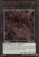 Heroic Champion - Excalibur - REDU-EN041 - Ultimate Rare - 1st Edition