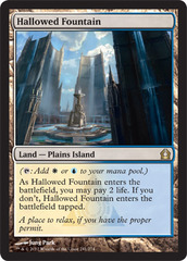 Hallowed Fountain - Foil on Channel Fireball