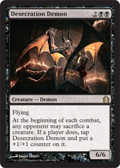 Desecration Demon - Foil on Channel Fireball