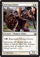 Selesnya Sentry - Foil on Channel Fireball