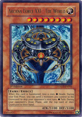 Arcana Force XXI - The World - LODT-EN016 - Ultra Rare - 1st Edition
