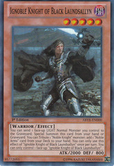 Ignoble Knight of Black Laundsallyn - ABYR-EN000 - Super Rare - 1st Edition
