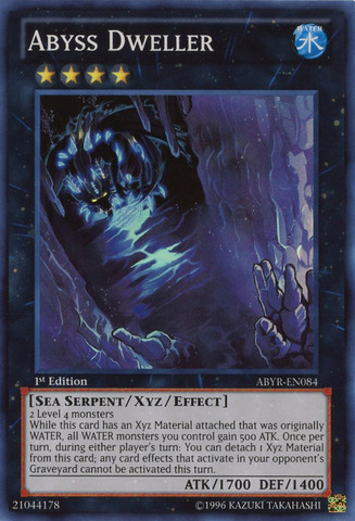 Abyss Dweller - ABYR-EN084 - Super Rare - 1st Edition