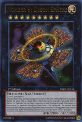 Number 9: Dyson Sphere - ABYR-EN044 - Ultra Rare - 1st Edition on Channel Fireball