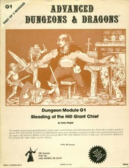 AD&D: G1 Steading of the Hill Giant Chief 9016