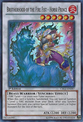 Brotherhood of the Fire Fist - Horse Prince - CBLZ-EN097 - Super Rare - 1st Edition on Channel Fireball