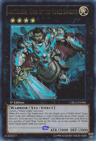 Artorigus, King of the Noble Knights - CBLZ-EN086 - Ultra Rare - Unlimited Edition