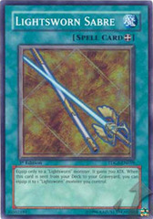 Lightsworn Sabre - TDGS-EN059 - Super Rare - 1st Edition