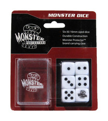Monster Protectors - 6x D6 Monster Dice & Carrying Case - White