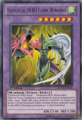 Elemental HERO Flame Wingman - LCGX-EN045 - Secret Rare - Unlimited Edition