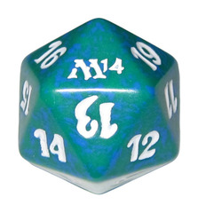 20 Sided Spindown Die - Magic 2014 (Green) on Channel Fireball