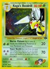 Koga's Beedrill - 9/132 - Holo Rare - Unlimited Edition