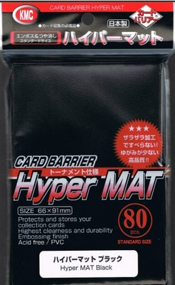 KMC Hyper Matte Black Sleeves (80ct)