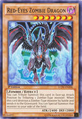 Red-Eyes Zombie Dragon - LCJW-EN206 - Rare - 1st Edition