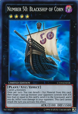 Number 50: Blackship of Corn - CT10-EN018 - Super Rare - Limited Edition