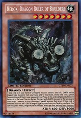 Redox, Dragon Ruler of Boulders - CT10-EN003 - Secret Rare - Limited Edition on Channel Fireball