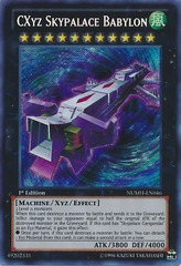 CXyz Skypalace Babylon - NUMH-EN046 - Secret Rare - Unlimited on Channel Fireball