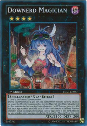 Downerd Magician Lval En057 Secret Rare 1st Edition