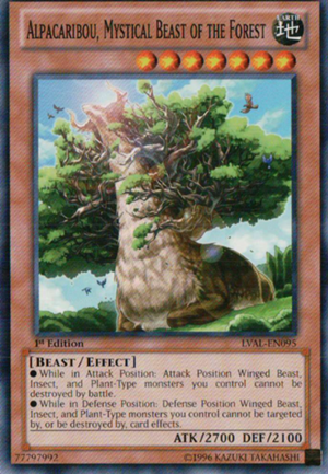 Alpacaribou, Mystical Beast of the Forest - LVAL-EN095 - Common - 1st Edition