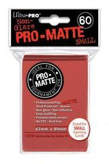 Pro-Matte Red Small Deck Protectors - 60ct