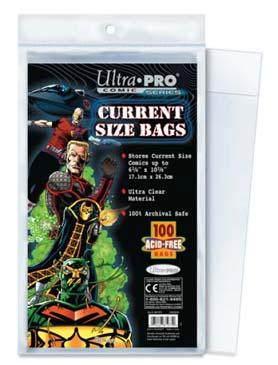 Current Size 6-7/8 X 10-1/2 Resealable Comic Bags