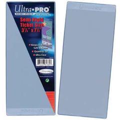 Ultra Pro Semi Rigid Ticket Sleeves - 3-1/2
