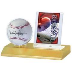Baseball & Card Light Wood Holder