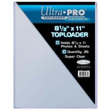 8-1/2 X 11 Ultra Pro Toploader 25ct Pack