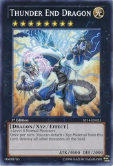 Thunder End Dragon - SP14-EN021 - Starfoil Rare - 1st Edition on Channel Fireball