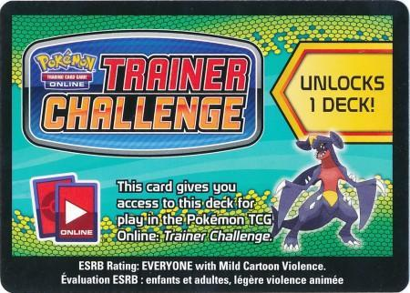 Dragons Exalted Garchomp Theme Deck Code Card