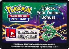 Rayquaza Collector's Tin Unused Code Card