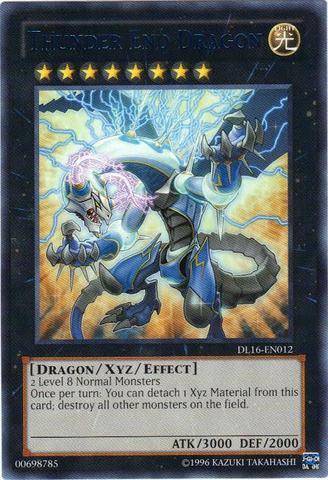 Thunder End Dragon - Blue - DL16-EN012 - Rare - Unlimited Edition