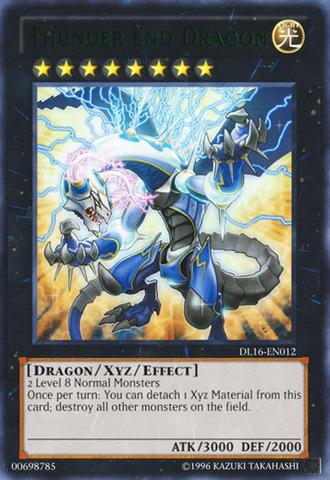 Thunder End Dragon - Green - DL16-EN012 - Rare - Unlimited Edition