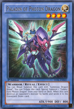 Paladin of Photon Dragon - LVAL-EN045 - Rare - Unlimited