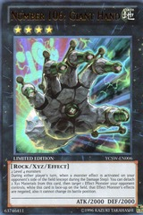 Number 106: Giant Hand - YCSW-EN006 - Ultra Rare - Limited Edition