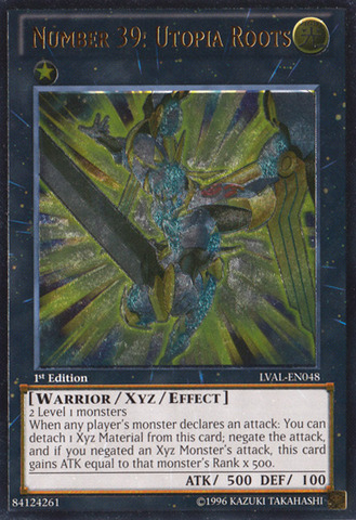 Number 39: Utopia Roots - LVAL-EN048 - Ultimate Rare - Unlimited Edition
