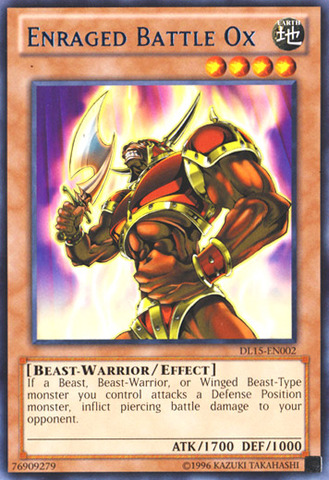 Enraged Battle Ox - Blue - DL15-EN002 - Rare - Unlimited Edition
