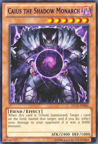 Caius the Shadow Monarch - Purple - DL15-EN006 - Rare - Unlimited Edition