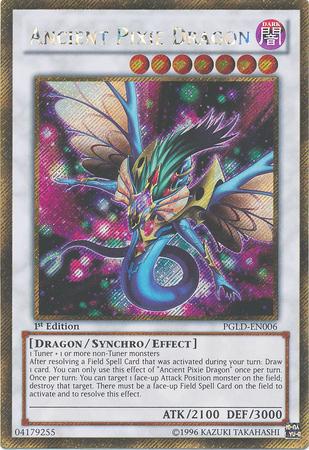 Ancient Pixie Dragon - PGLD-EN006 - Gold Secret Rare - 1st Edition