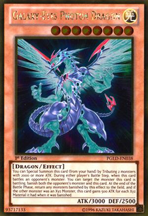 Yugioh Galaxy-Eyes Photon Dragon Gold Rare PGLD 1st Edition Lightly Played
